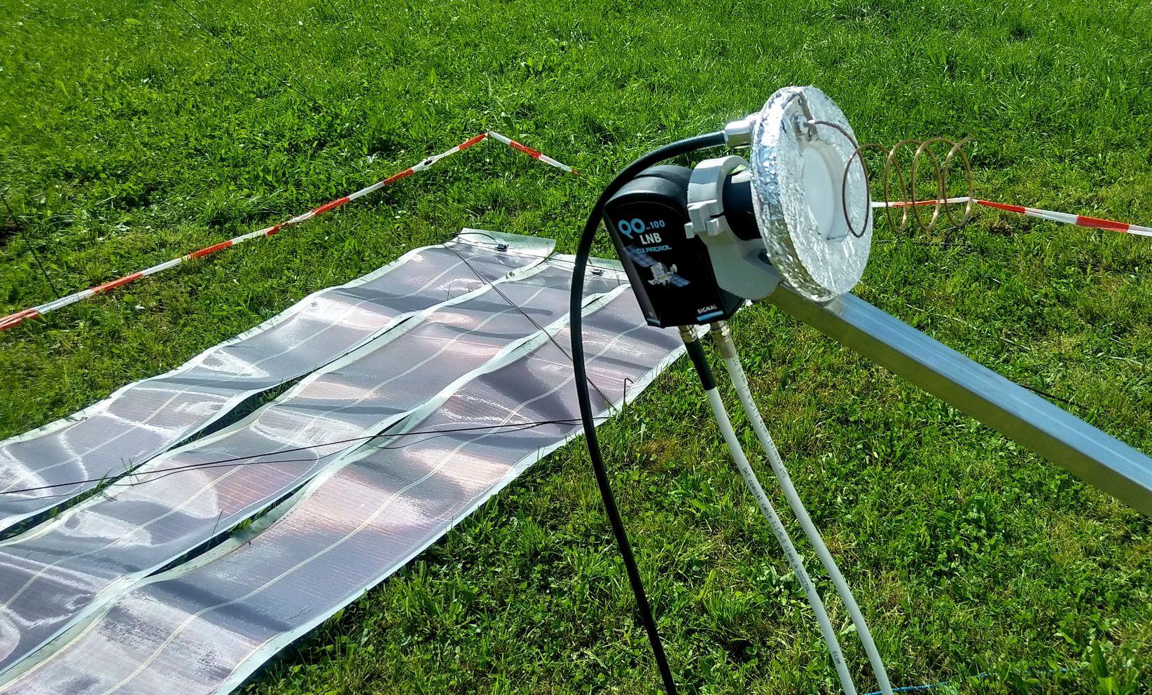 QO-100-Feed u. Solarzellen